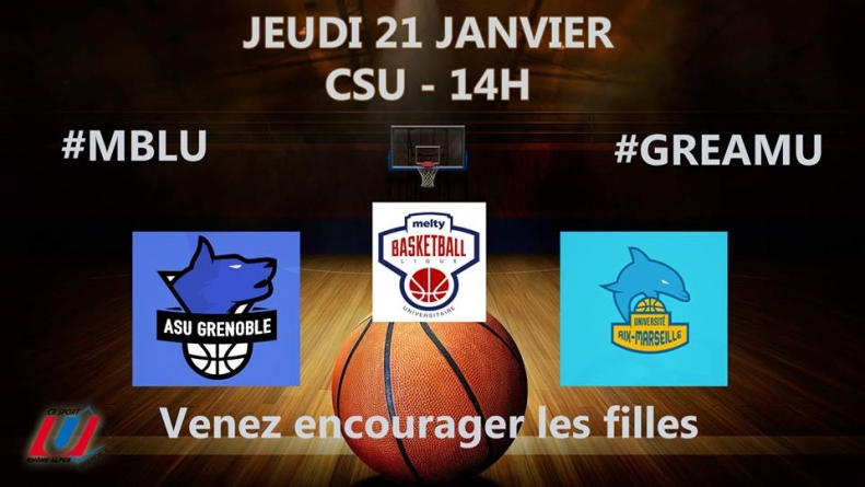 Melty Basketball Ligue Universitaire : les Grenobloises défient les championnes de France