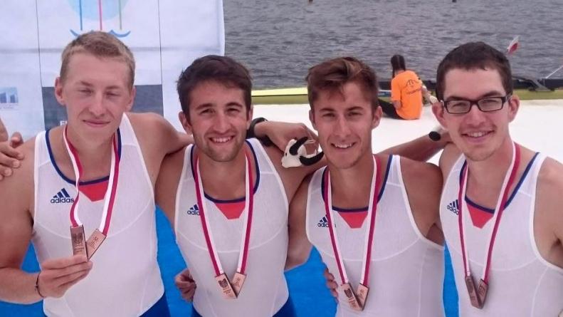 Mondiaux U d'aviron : une médaille pour Alexis Guerinot